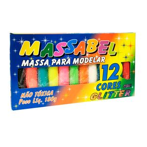 Massa-de-Modelar-Glitter-com-12-Cores---Massabel