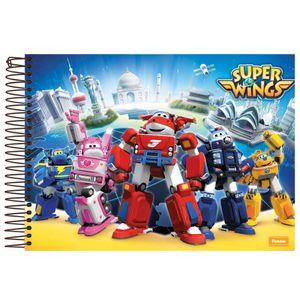 Caderno-Cartografia-Capa-Dura-96-fls-Foroni---Super-Wings