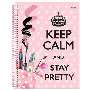 Caderno-Espiral-Universitario-10x1-200-fls-Capa-Dura-Sao-Domingos---Keep-Calm-Girl-Capa-4