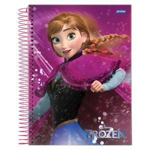 Caderno-Espiral-Universitario-1x1-96-fls-Capa-Dura-Jandaia---Frozen-Magic-Capa-1