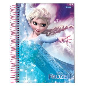 Caderno-Espiral-Universitario-1x1-96-fls-Capa-Dura-Jandaia---Frozen-Magic-Capa-2