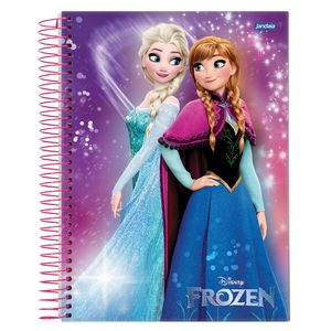 Caderno-Espiral-Universitario-1x1-96-fls-Capa-Dura-Jandaia---Frozen-Magic-Capa-4