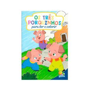 Livro-Ler-e-Colorir-Os-Tres-Porquinhos---Todolivro