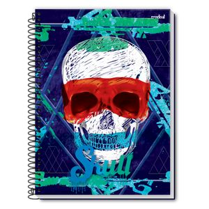 Caderno-Espiral-Universitario-10x1-200-fls-Capa-Dura-Credeal---Skull-Capa-1