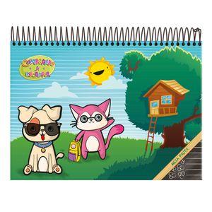 Caderno-Pedagogico-Capa-Dura-Espiral-40-Fls-Meia-Pauta-Comecando-a-Escrever---Foroni