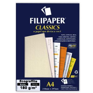 Papel-Ecograffite-180gm²-Areia-50-Fls-A4---Filipaper