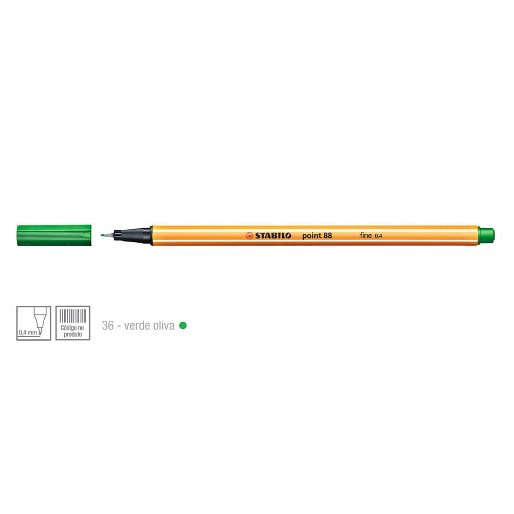 Caneta-Point-88-Cor-36-Verde-Oliva---Stabillo