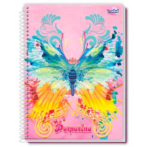 Caderno-Espiral-Universitario-10x1-200-fls-Capa-Dura-Credeal---Purpurina-Capa-5