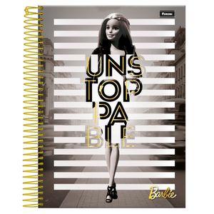 Caderno-Espiral-Universitario-10x1-200-fls-Capa-Dura-Foroni---Barbie-Glamour-Capa-1