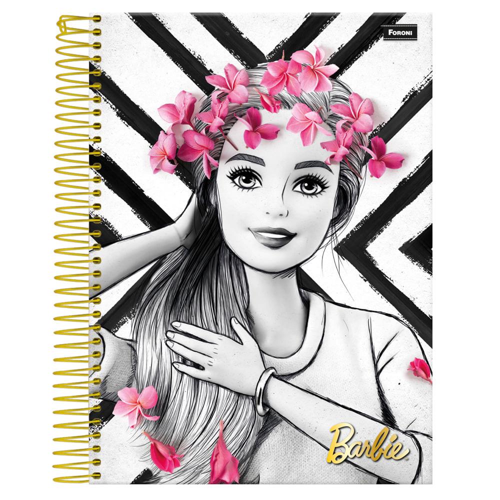 Caderno-Espiral-Universitario-1x1-96-fls-Capa-Dura-Foroni---Barbie-Glamour-Capa-2