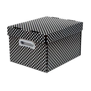 Caixa-Organizadora-The-Best-Box-Dots-Preta-Media---Polibras