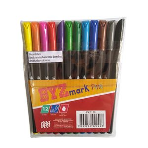 caneta-bismark-fineliner-04mm-com-12-cores-yes