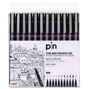 Estojo-Caneta-Nankim-Pin-Preta-com-12-unidades---Uni