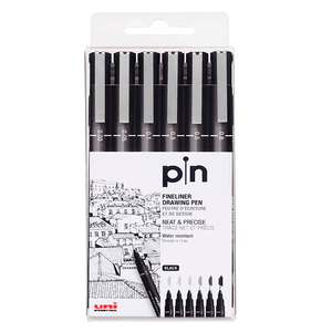 Estojo-Caneta-Nankim-Pin-Preta-com-6-unidades---Uni