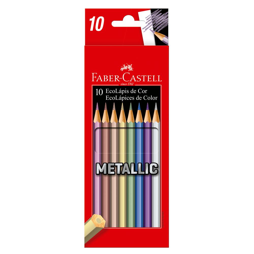 Ecolapis-de-Cor-Sextavado-10-Cores-Metallic---Faber-Castell