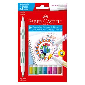 Caneta-Hidrografica-Contorna---Pinta-com-10-Cores---Faber-Castell