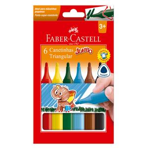 Caneta-Hidrografica-Jumbo-Triangula-com-6-Cores---Faber-Castell