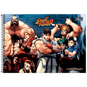 Cartografia-C.D.-80-fls-Tilibra---Street-Fighter-1