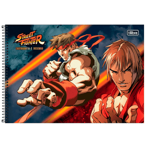 Cartografia-C.D.-80-fls-Tilibra---Street-Fighter-2