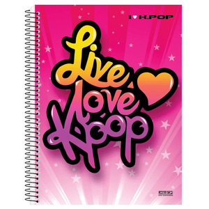 Caderno-Universitario-1x1-96-fls-C.D.-Sao-D.---I-Love-K-Pop-4