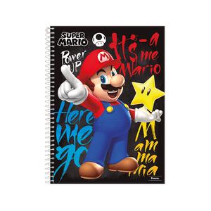 Caderno-14-96-fls-C.D.-Foroni---Super-Mario-1