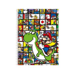 Caderno-14-96-fls-C.D.-Foroni---Super-Mario-4