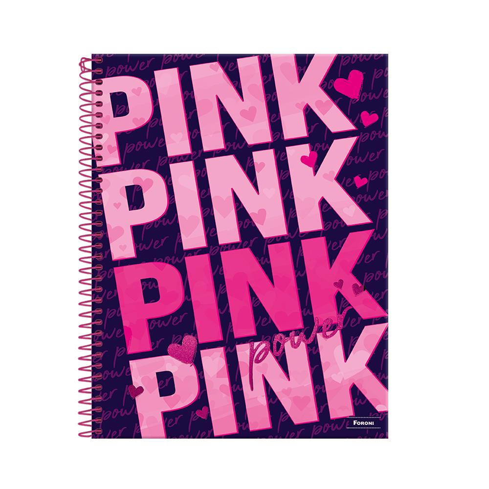 Caderno-Colegial-1x1-160-fls-C.D.-Foroni---Pink-Power-1