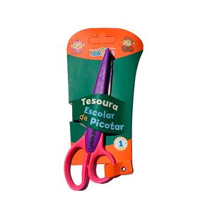 Tesoura-Escolar-de-Picotar-Zig-Zag-Rosa-e-Roxo---Leo-Leo