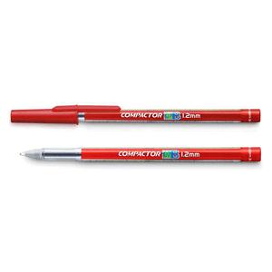 Caneta-Esferografica-Grossa-1.2mm-Vermelha---Compactor