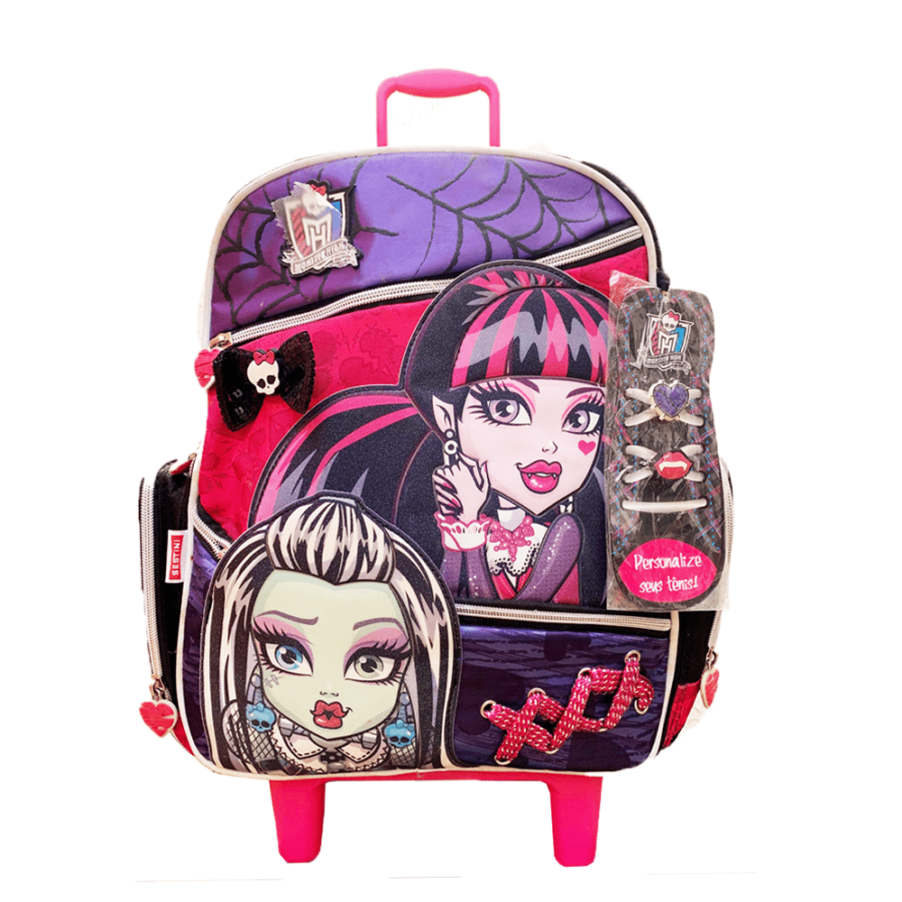 b32e84432 Mochila de Rodinhas Monster High 14'' Sestini - newscenter