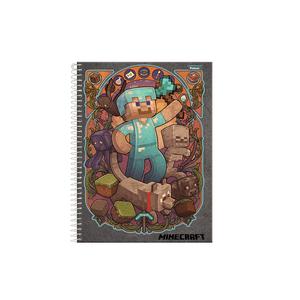 Caderneta-18-C.D.-96-Folhas-Jandaia---Minecraft-2