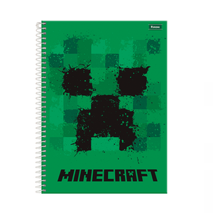 Caderno-14-80-fls-C.D.-Foroni---Minecraft-1