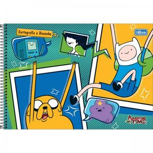 Caderno-Cartografia-C.-D.-96-FLS-Tilibra---Adventure-Time
