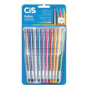 caneta-gel-gelyx-10-cores-cis
