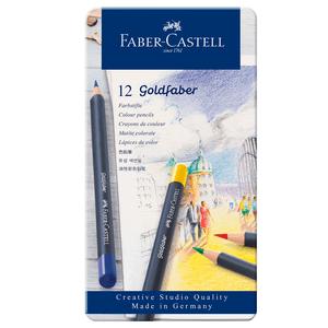 Lapis-de-Cor-Goldfaber-Estojo-de-Lata-com-12-Cores---Faber-Castell