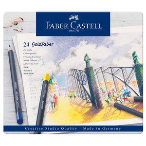 Lapis-de-Cor-Goldfaber-Estojo-de-Lata-com-24-Cores---Faber-Castell