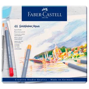 Lapis-de-Cor-Aquarelavel-Goldfaber-Aqua-Estojo-de-Metal-48-Cores---Faber-Castell