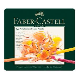 Lapis-de-Cor-Polychromos-Estojo-de-Metal-24-Cores---Faber-Castell