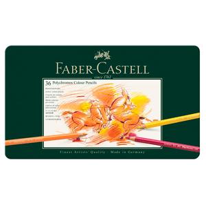 Lapis-de-Cor-Polychromos-Estojo-de-Metal-36-Cores---Faber-Castell
