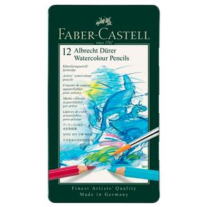 Lapis-de-Cor-Aquarelavel-Albrecht-Durer-Estojo-de-Metal-12-Cores---Faber-Castell