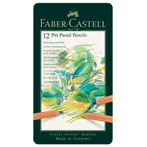 Lapis-de-Cor-Pitt-Pastel-Seco-Estojo-de-Metal-com-12-Cores---Faber-Castell
