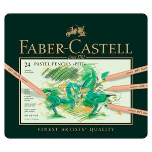 Lapis-de-Cor-Pitt-Pastel-Seco-Estojo-de-Metal-com-24-Cores---Faber-Castell