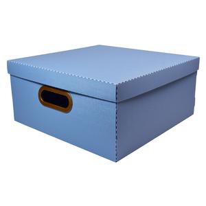 caixa--organizadora--quadrada--linho--azul--dello