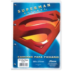 Bloco-para-Fichario-96-Folhas-Superman---Foroni