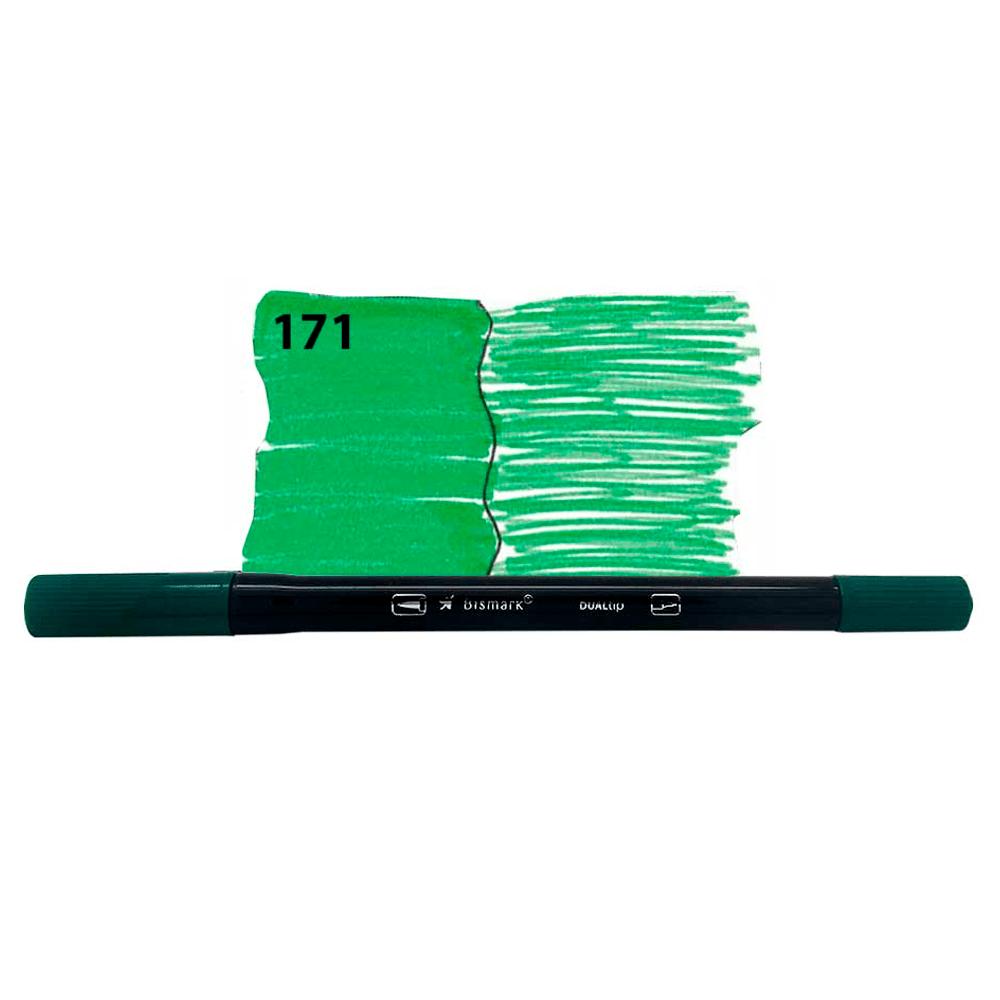 Caneta-Brush-Duas-Pontas-171-Verde-Folha---Bismark