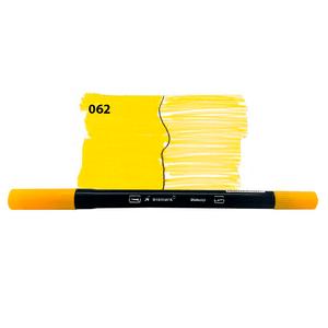 Caneta-Brush-Duas-Pontas-062-Amarelo---Bismark