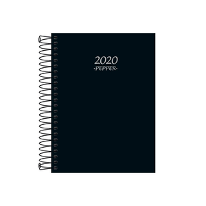 Agenda-Espiral-Pepper-Preta-M4-2020---Tilibra