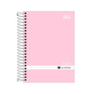 Agenda-Espiral-M5-Academie-2020-Rosa-Pastel---Tilibra