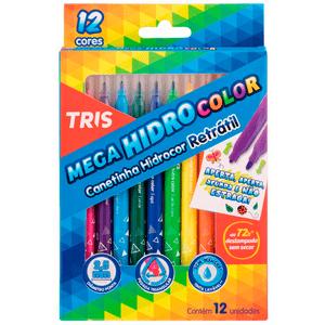 Caneta-Hidrocor-Retratil-Mega-Hidro-Color-12-Cores---Tris