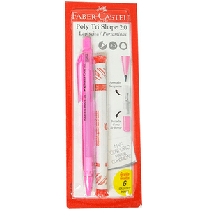 Lapiseira-Poly-Tri-Shape-2.0-com-Refil-de-Grafite-Rosa---Faber-Castell